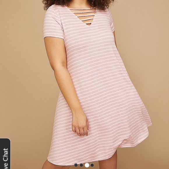 22e328f78ca Plus Size Lane Bryant T-shirt Swing Dress